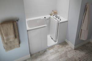 NewPro installation of a new walk-in tub