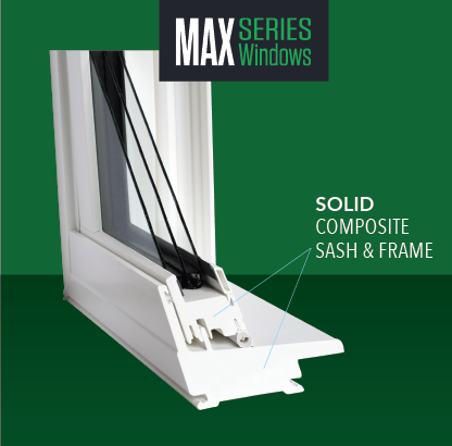 NEWPRO MaxSeries windows - solid composite sash and frame picture