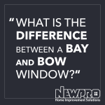 what is the difference between a bay and bow window? text block