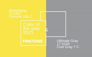 2021 Pantone Color of the Year: Illuminating & Ultimate Gray